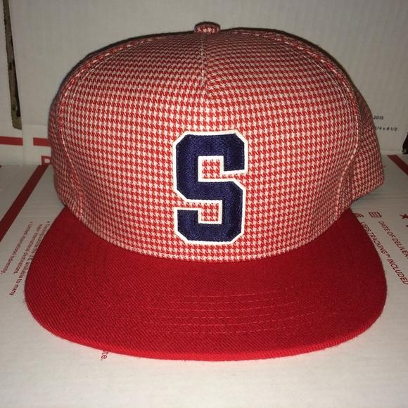 Supreme S logo Houndstooth Snapback Hat vtg 2012 !  M 5b69e747df030795c1431db8 ee152c58d